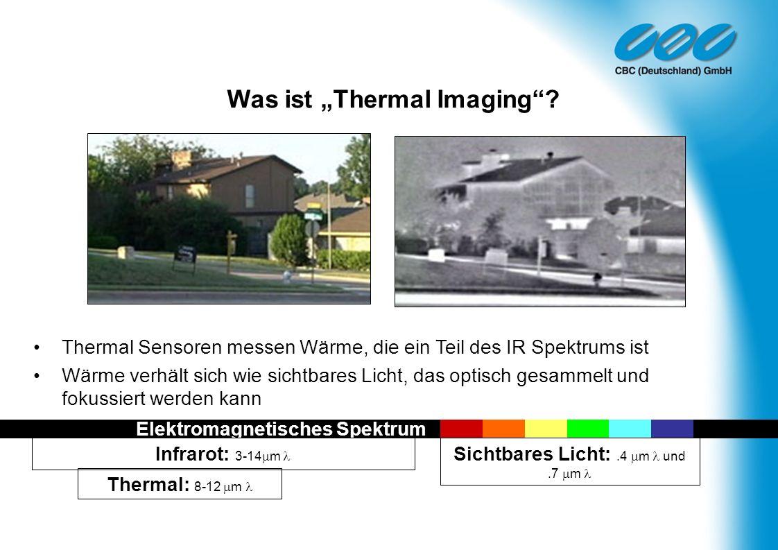 Thermal Sensoren messen Wärme, die ein Teil des IR Spektrums ist Wärme verhält sich wie sichtbares Licht, das optisch gesammelt und fokussiert werden