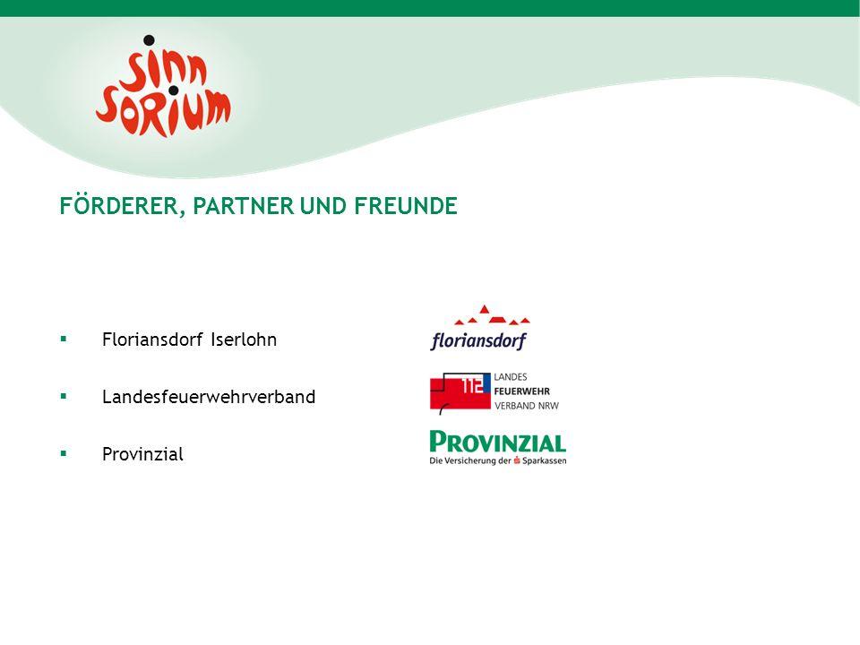 FÖRDERER, PARTNER UND FREUNDE Floriansdorf Iserlohn Landesfeuerwehrverband Provinzial