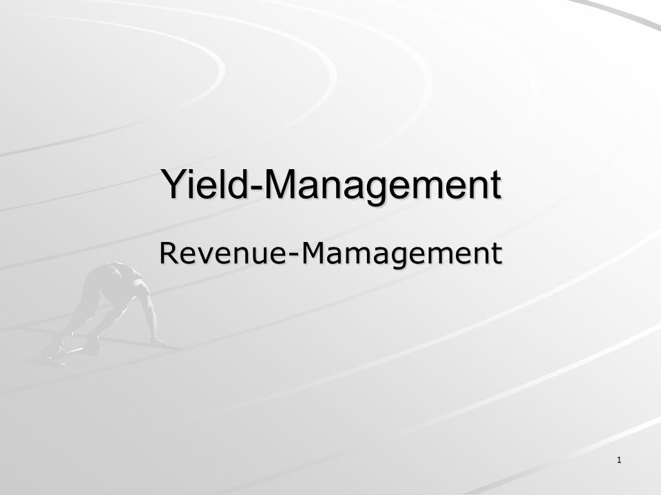 1 Yield-Management Revenue-Mamagement