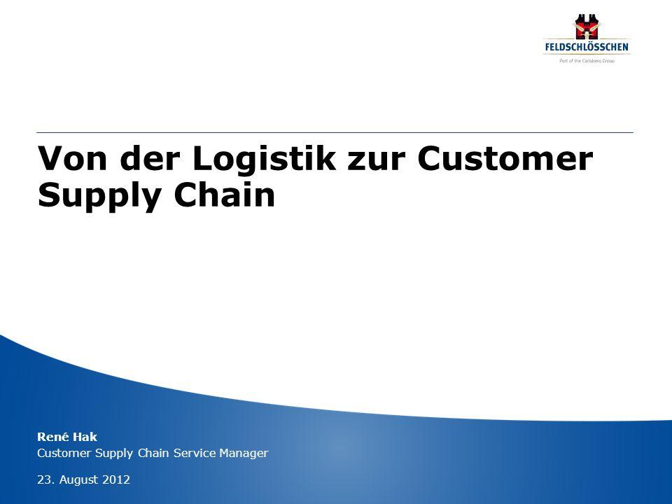 Von der Logistik zur Customer Supply Chain René Hak Customer Supply Chain Service Manager 23. August 2012