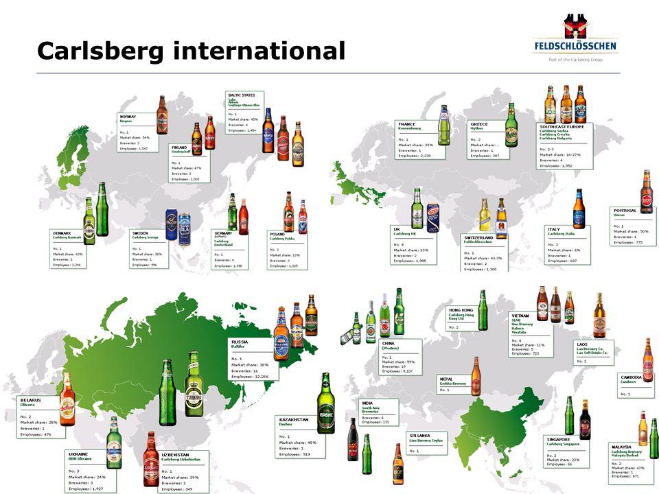 Seite 7 Standorte von Feldschlösschen Das Unternehmen Feldschlösschen ist an 21 Standorten in der ganzen Schweiz präsent.