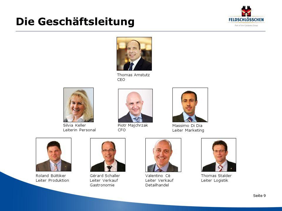 Seite 10 Das Leitbild Das Leitbild des Unternehmens Feldschlösschen basiert auf sieben Grundsätzen.