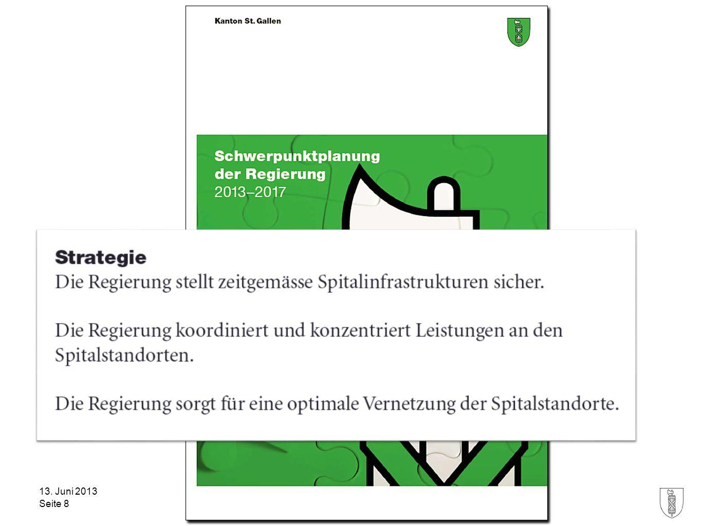 Kanton St.Gallen Gesundheitsdepartement 13. Juni 2013 Seite 8