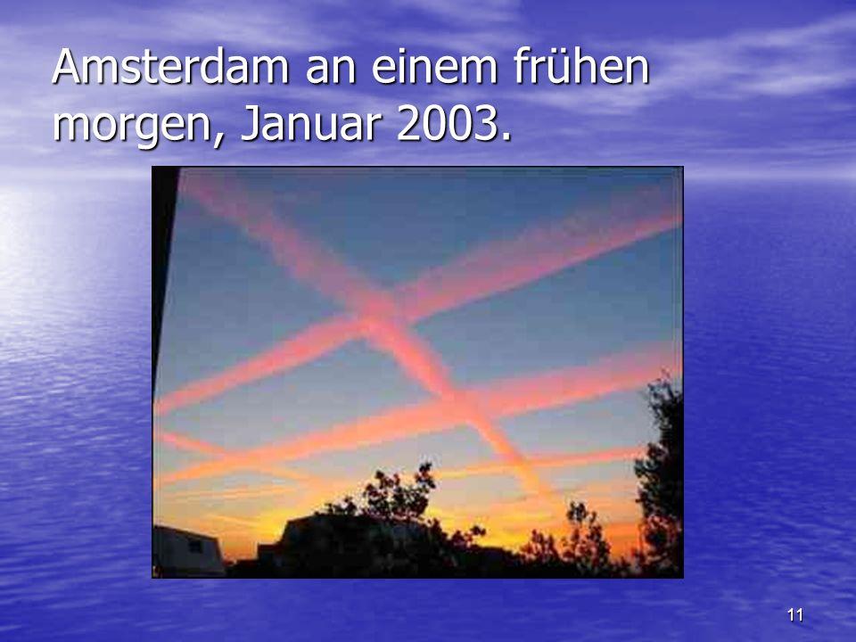 11 Amsterdam an einem frühen morgen, Januar 2003.