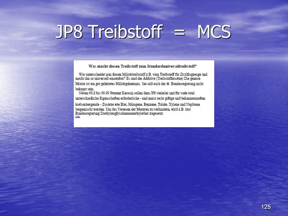 125 JP8 Treibstoff = MCS JP8 Treibstoff = MCS