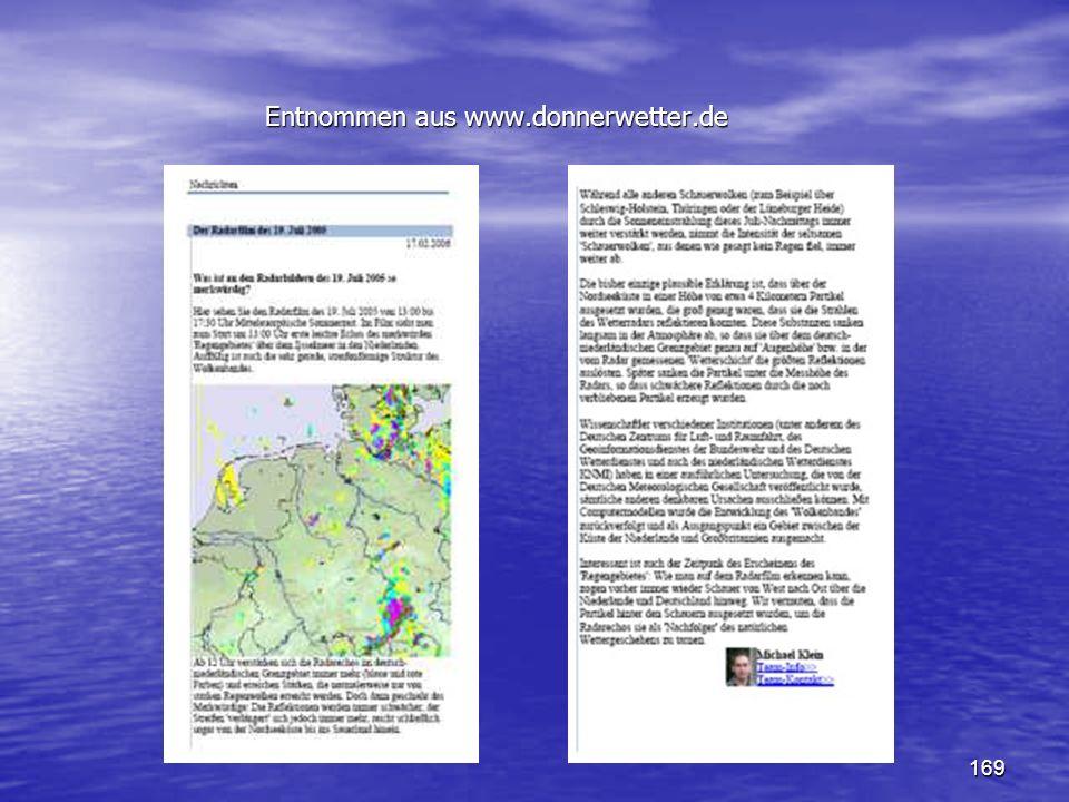 169 Entnommen aus www.donnerwetter.de Entnommen aus www.donnerwetter.de