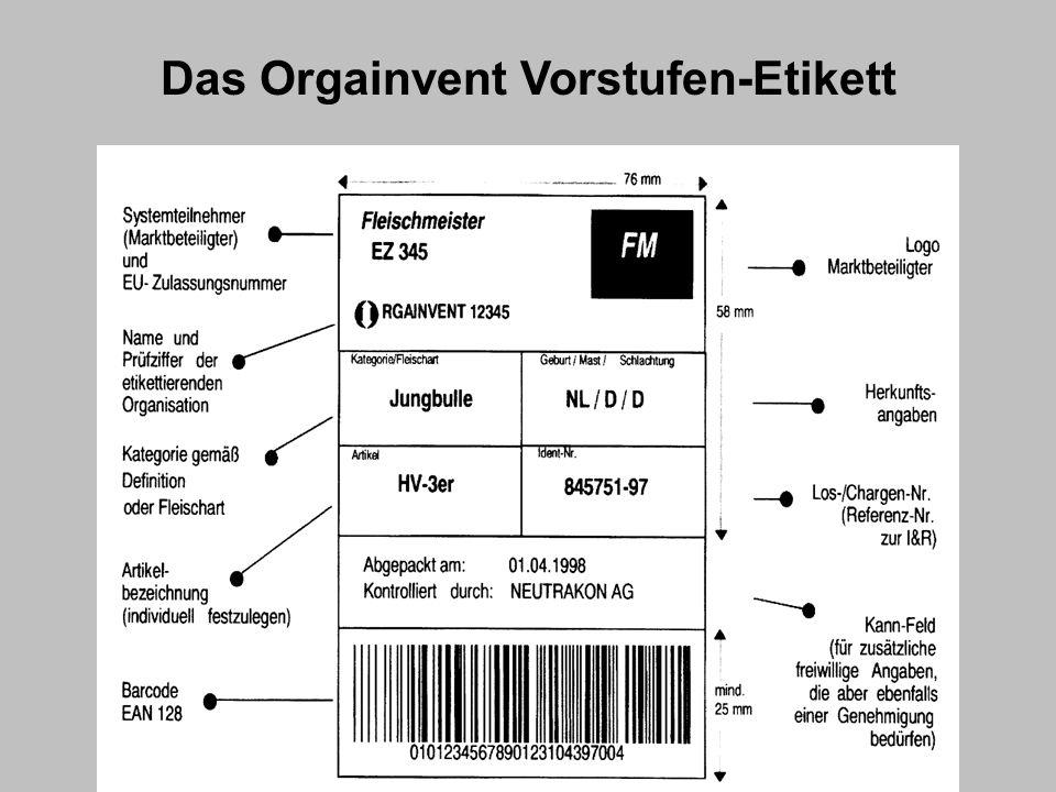 Das Orgainvent Vorstufen-Etikett