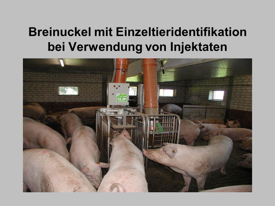 Maßnahmen zur Erhaltung der Wettbewerbsfähigkeit der Produktion Schaffung von qualitätsorientierten Allianzen zwischen vertikalen Partnern z.B.: - Futtermittelbetriebe (GMP und ISO zertifiziert) - Tierarzt und Tiergesundheitsdienste - Schlachthof (Befundrückmeldung zur Unterstützung von - Herdengesundheitsprogrammen) Schweinefleischverarbeiter (klare Formulierung der Erwartungen) Völlige Transparenz des gesamten Produktionsprozesses vom Stall zum Tisch Produkthaftung durch die gesamte Produktionskette: jeder ist für das, was er in Verkehr bringt verantwortlich, auch wenn der Fehler beim Zulieferer liegt Auswahl des Zulieferers nach Zuverlässigkeit und nicht nur nach dem Preis 1) 2) 3)