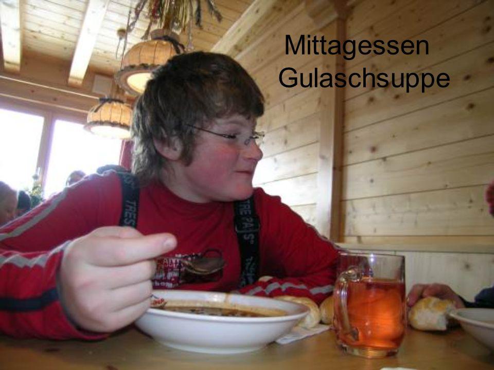 Mittagessen Gulaschsuppe