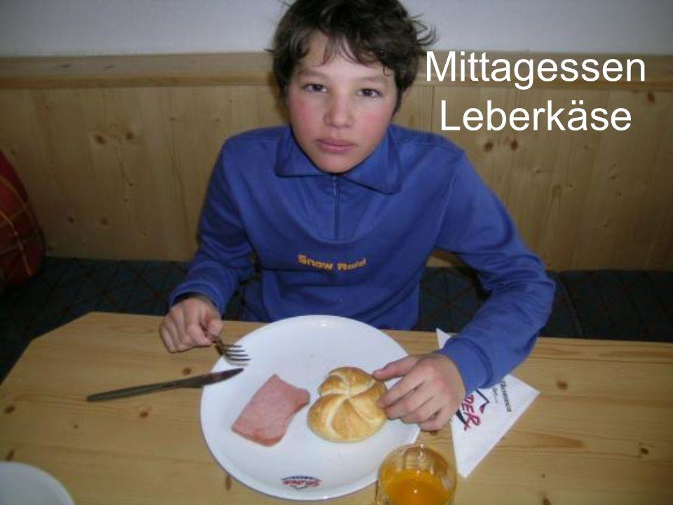 Mittagessen Leberkäse