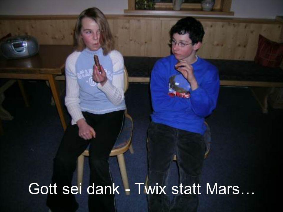Gott sei dank - Twix statt Mars…