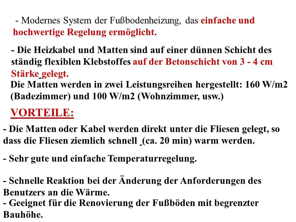 Anwendung des Systems ECOFLOOR im Interieur ASL1P Matte LD ADSL1PMatte LDTS P1P HEIZKABEL HEIZKABELMATTE EINADERKABEL Das Heizkabel hat Anschlussleiter an beiden Seiten (d.h.
