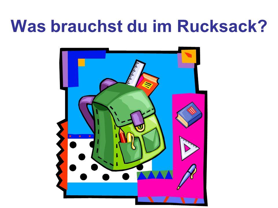 Was brauchst du im Rucksack?