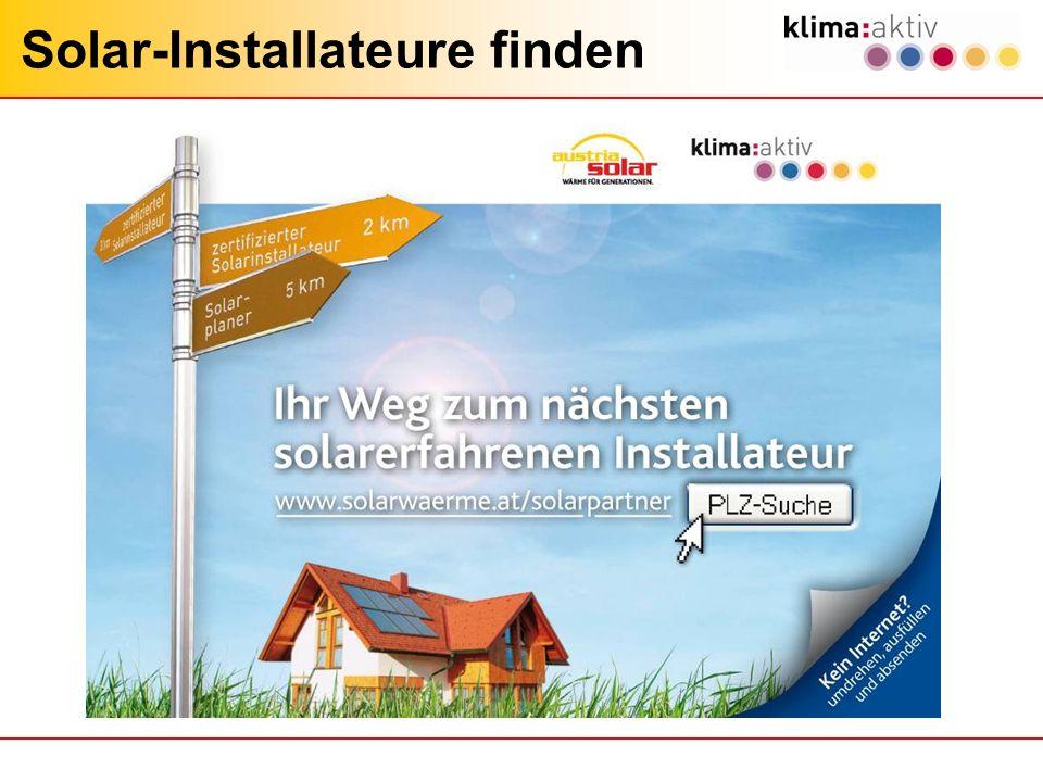 Solar-Installateure finden