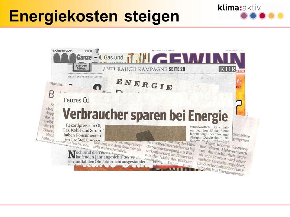 Quelle: Österr. Energieagentur Preisentwicklung bei Brennstoffen 2000 bis 2010