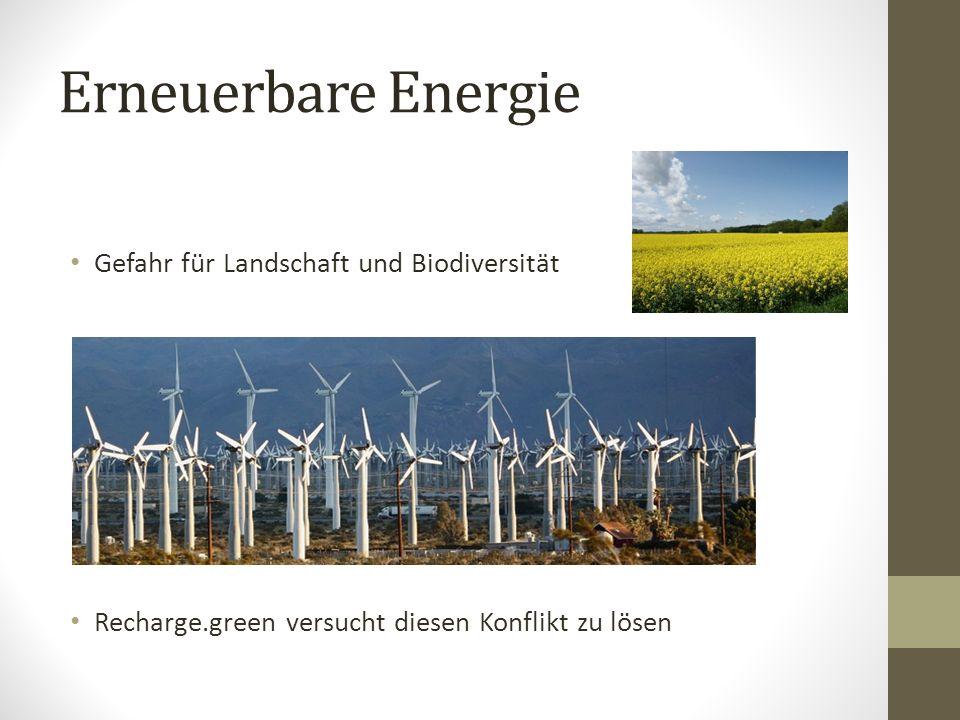 Erneuerbare Energie Gefahr für Landschaft und Biodiversität Recharge.green versucht diesen Konflikt zu lösen