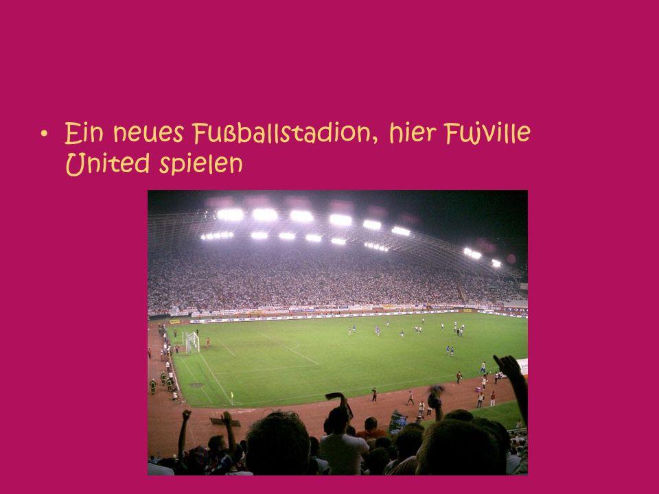 Ein neues Fußballstadion, hier Fujville United spielen