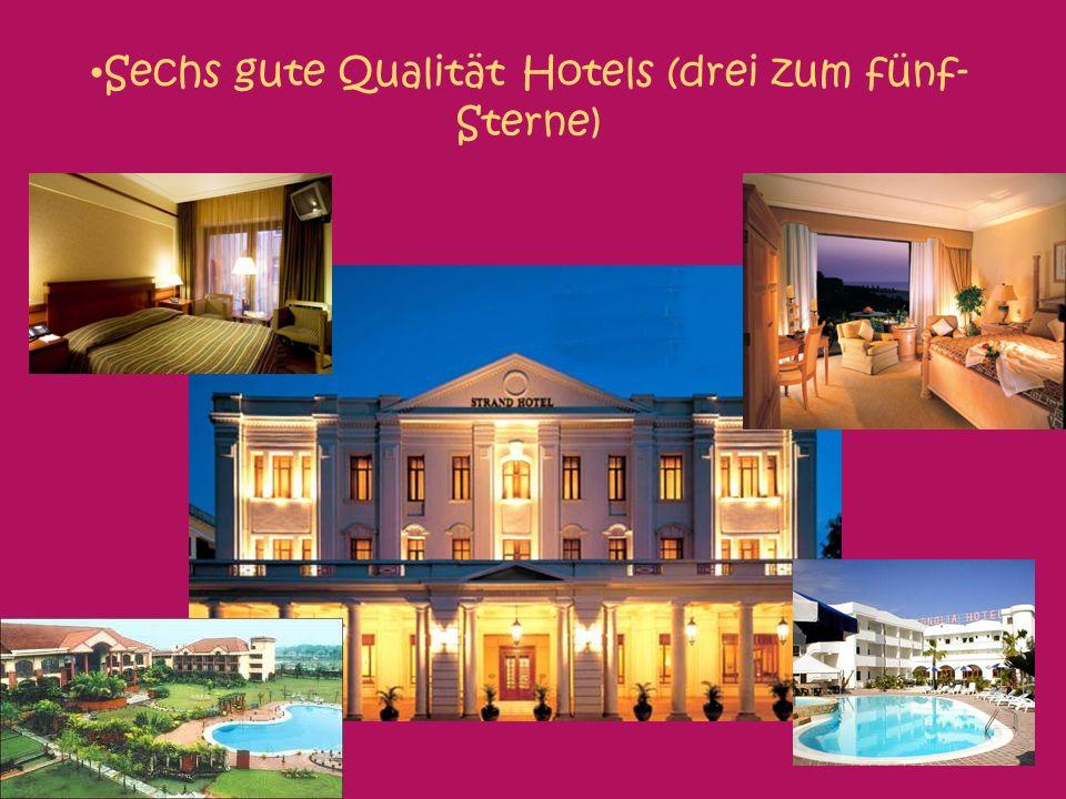 Sechs gute Qualität Hotels (drei zum fünf- Sterne) Fünf-Sterne unterkunft nur von 100 Euros (PP)