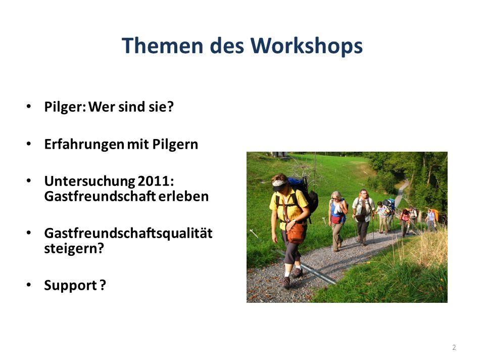 Themen des Workshops Pilger: Wer sind sie.