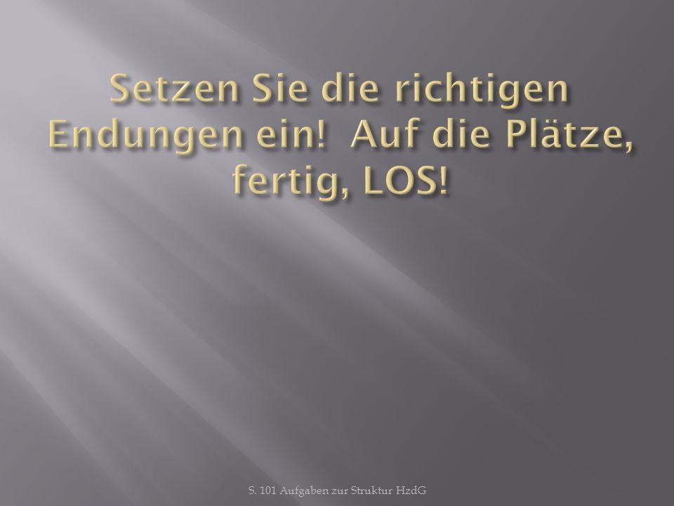 S. 101 Aufgaben zur Struktur HzdG alt en Bücher pl., Gen, Gen of