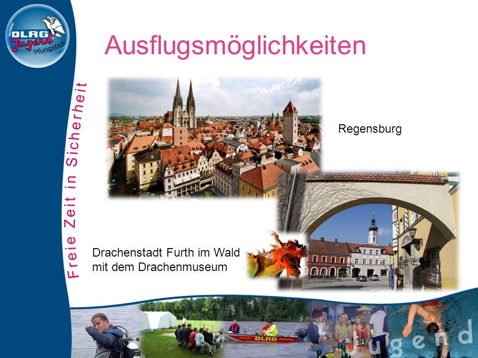 Regensburg Drachenstadt Furth im Wald mit dem Drachenmuseum