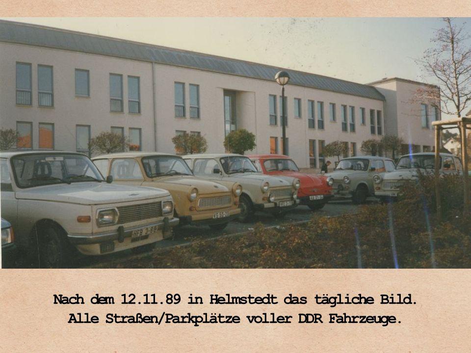 Die Supermärke lockerten die DDR Bürger mit Freifahrten per Bus.