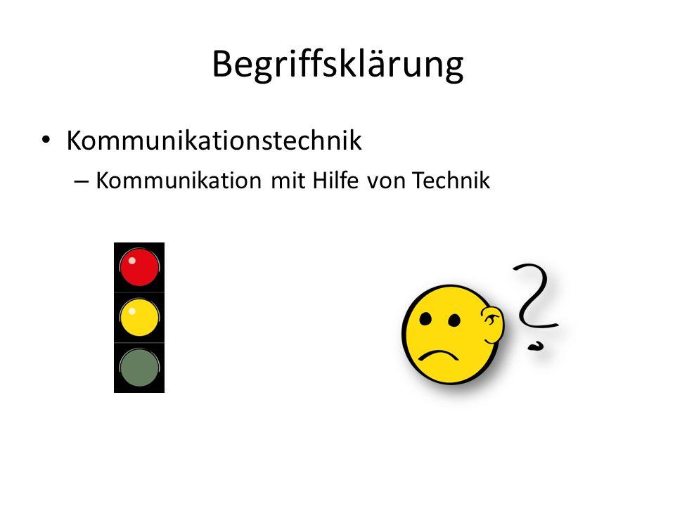 Begriffsklärung Kommunikationstechnik – Kommunikation mit Hilfe von Technik