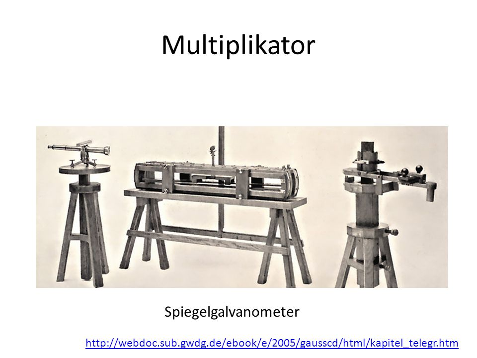 Multiplikator Spiegelgalvanometer http://webdoc.sub.gwdg.de/ebook/e/2005/gausscd/html/kapitel_telegr.htm