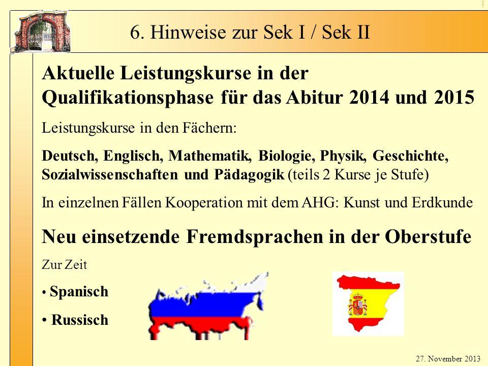 LK s & ne ue Fre md spr ac he n Aktuelle Leistungskurse in der Qualifikationsphase für das Abitur 2014 und 2015 Leistungskurse in den Fächern: Deutsch