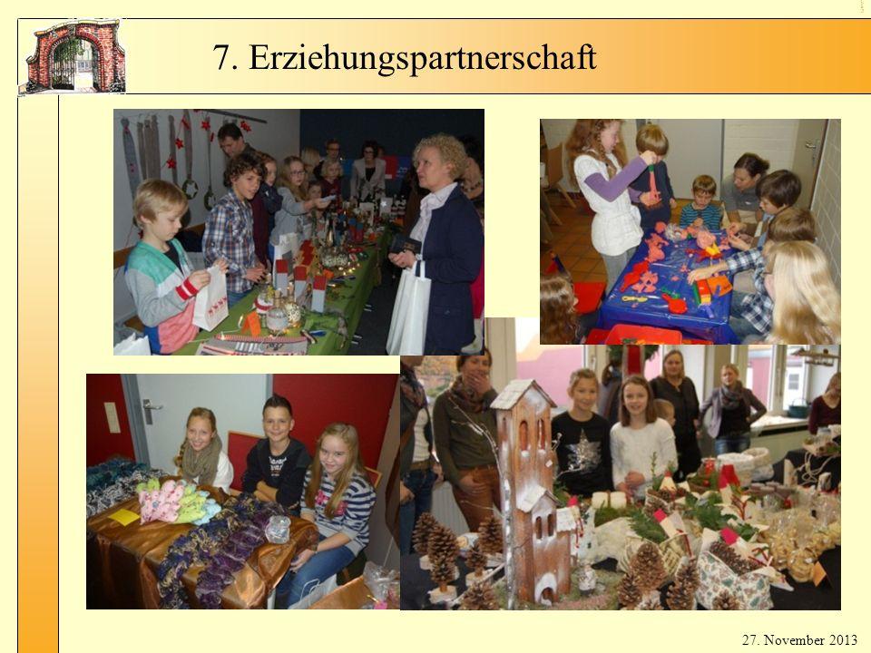 9 Er zie hu ngs par tne rsc haf t 7. Erziehungspartnerschaft 27. November 2013