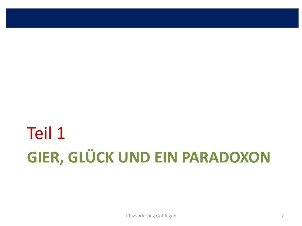 GIER, GLÜCK UND EIN PARADOXON Teil 1 Ringvorlesung Göttingen2