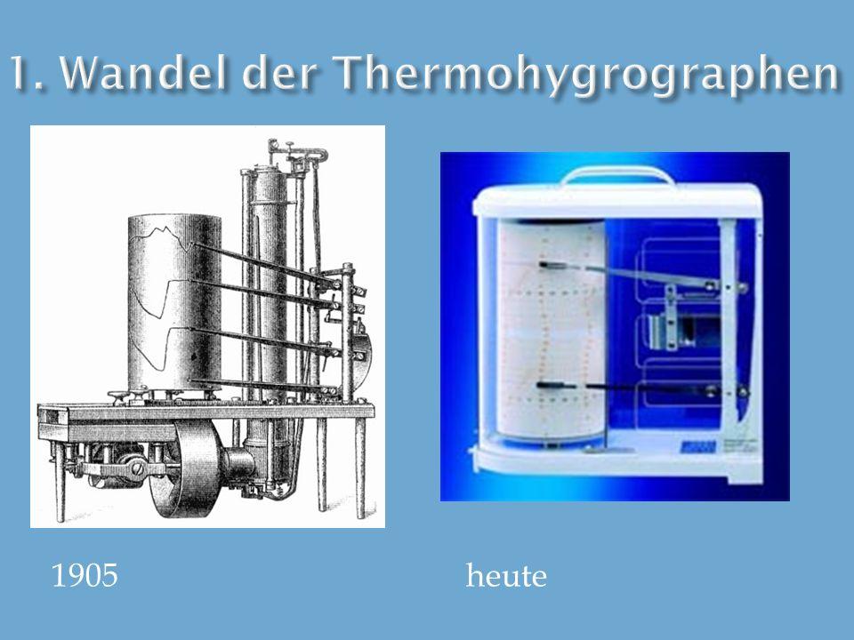 1.Wandel der Thermohygrographen(Hanna) 2. Was ist ein Thermohygrograph.