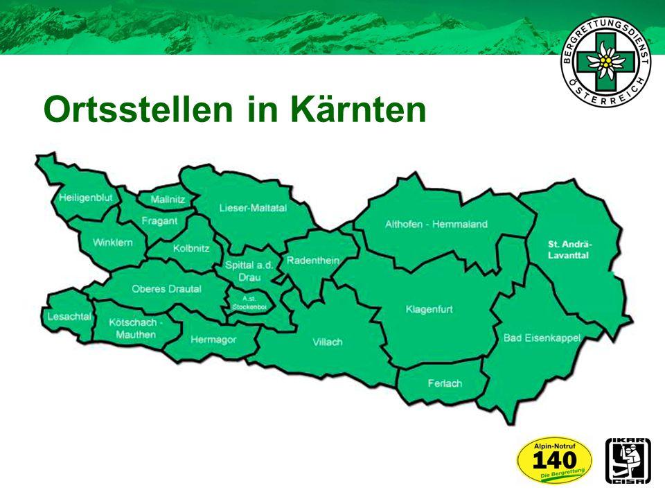 Ortsstellen in Kärnten