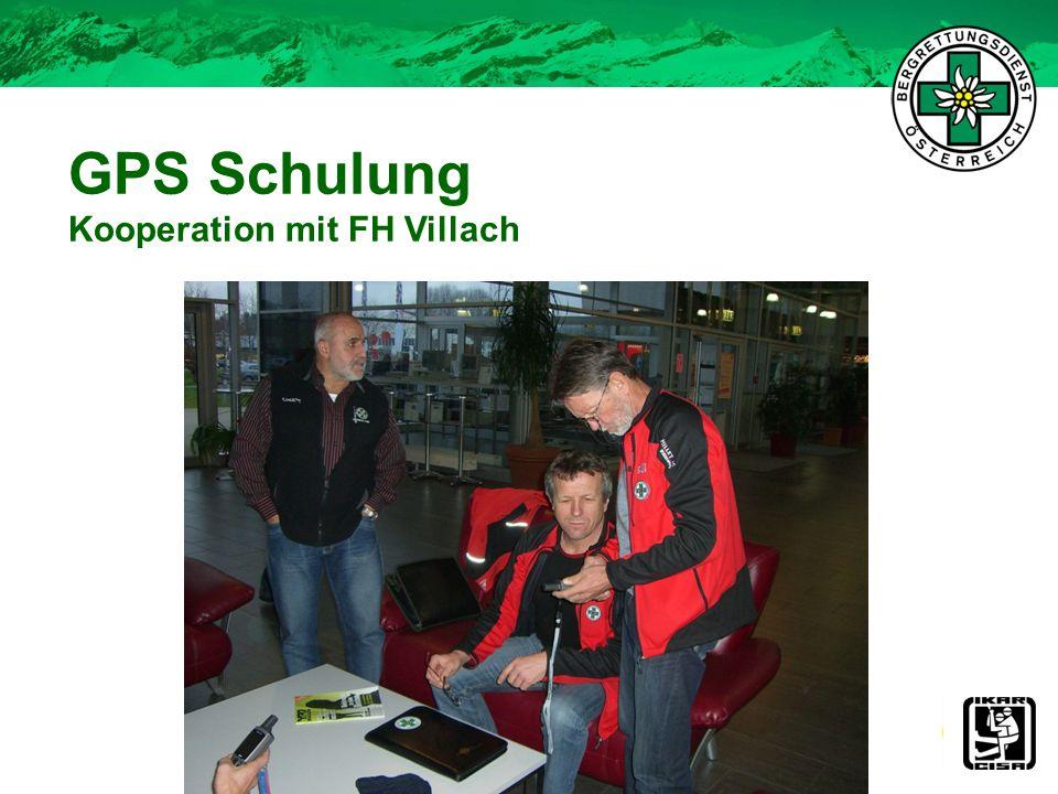 GPS Schulung Kooperation mit FH Villach