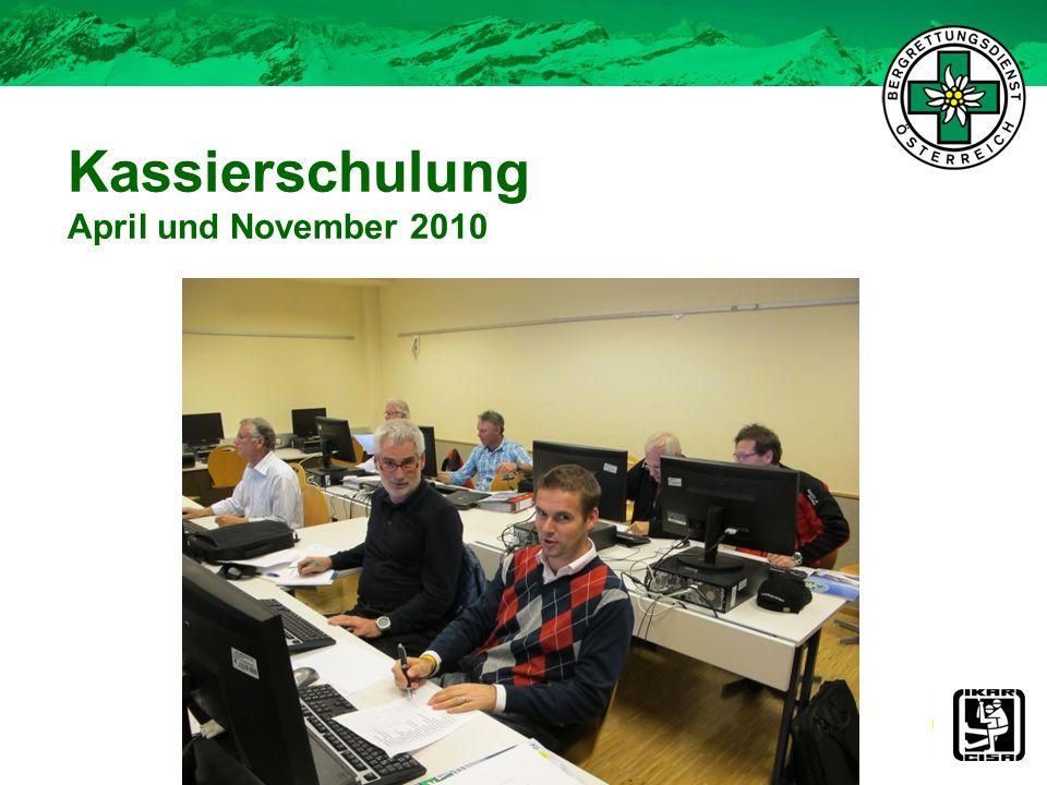 Kassierschulung April und November 2010