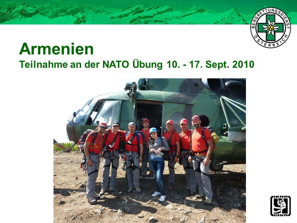 Armenien Teilnahme an der NATO Übung 10. - 17. Sept. 2010