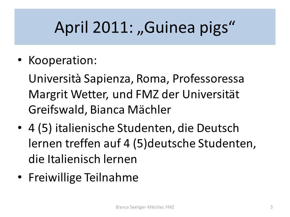 April 2011: Guinea pigs Kooperation: Università Sapienza, Roma, Professoressa Margrit Wetter, und FMZ der Universität Greifswald, Bianca Mächler 4 (5)