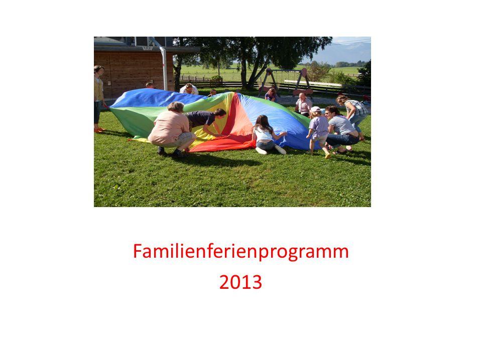 Familienferienprogramm 2013