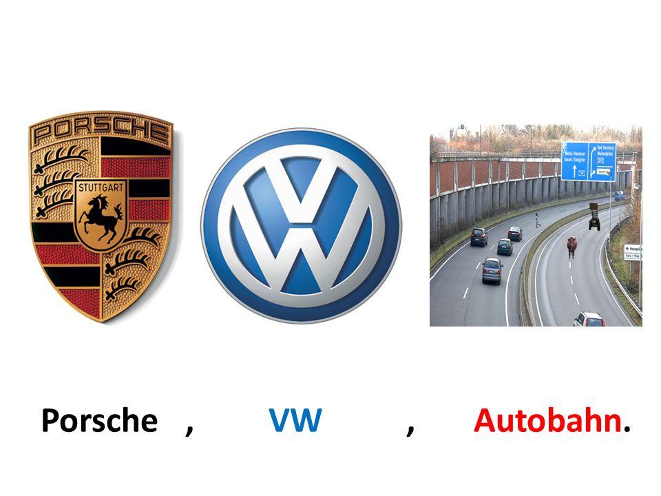 Porsche, VW, Autobahn.