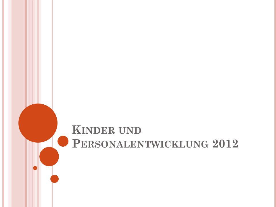 K INDER UND P ERSONALENTWICKLUNG 2012