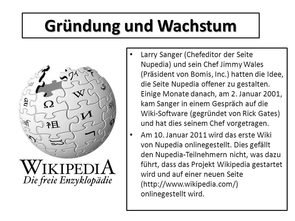 Larry Sanger (Chefeditor der Seite Nupedia) und sein Chef Jimmy Wales (Präsident von Bomis, Inc.) hatten die Idee, die Seite Nupedia offener zu gestal