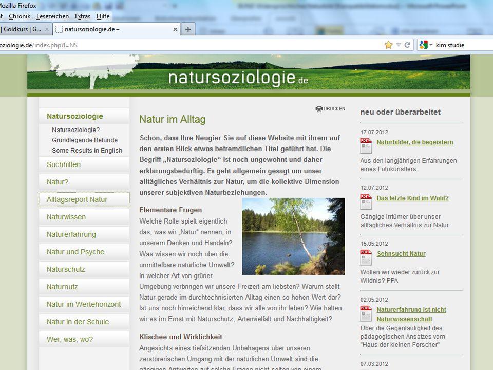 natursoziologie.de rainer brämer 11/2012 Letztes Kind im Wald.