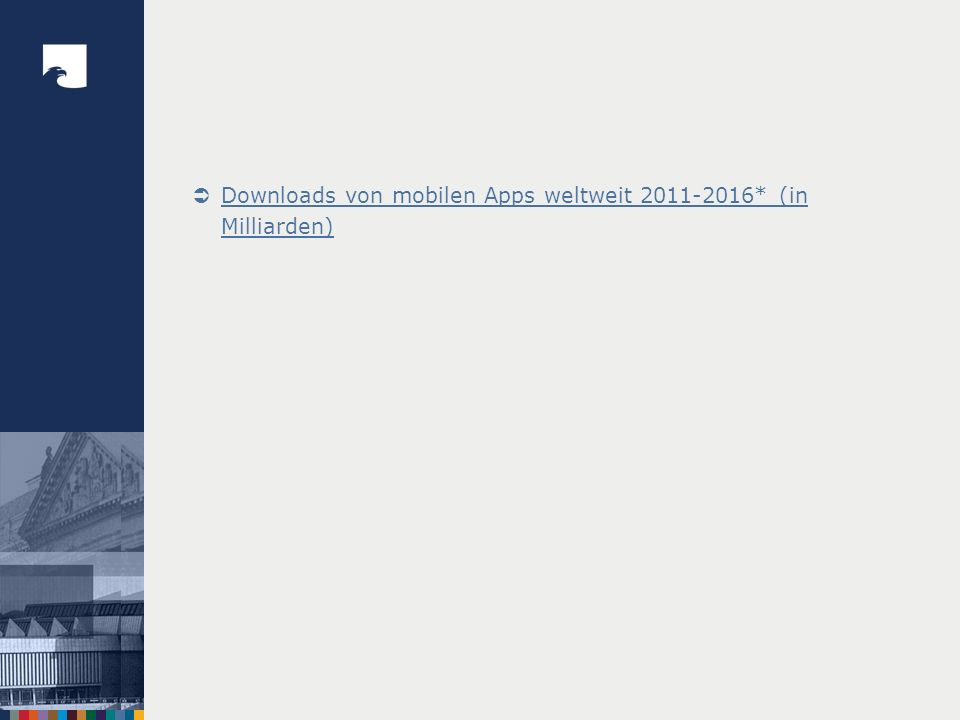 Bib Homepage/Recher che/ Dachorganisation Bib Homepage/Recher che/ Dachorganisation Bib Homepage/Recher che/ Dachorganisation 1 -/-/- 11 -/-/- 21 -/+/- 2 12 -/-/- 22 -/+/- 3 13 -/-/- 23 -/-/- 4 -/+/- 14 -/-/- 24 -/+/- 5 +/+/+ 15 -/-/- 25 -/+/- 6 16 -/-/- 26 -/-/- 7 17 -/+/- 27 -/-/- 8 -/+/+ 18 +/+/- 28 -/-/- 9 19 +/+/+ 29 -/-/- 10 -/-/- 20 -/+/- 30 -/+/- 31 -/-/- 15 von 31 Bibliotheken der BIX-Spitzenreiter aus der Dimension Nutzung bieten einen mobilen Katalog/Discovery an.