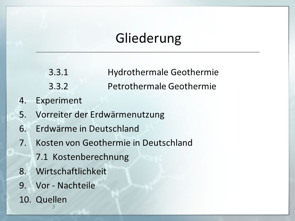 Was ist Geothermie.