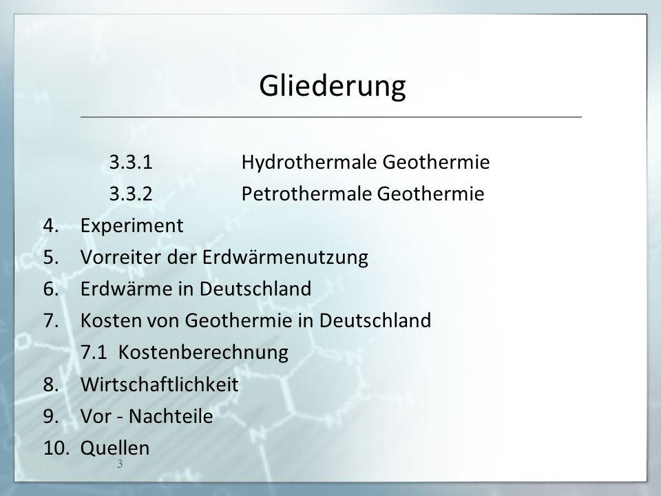 Erdwärme in Deutschland 34 Deutschland schreibt 95 % des gesamten Potenzials der petrothermalen Energieerschließung gut.