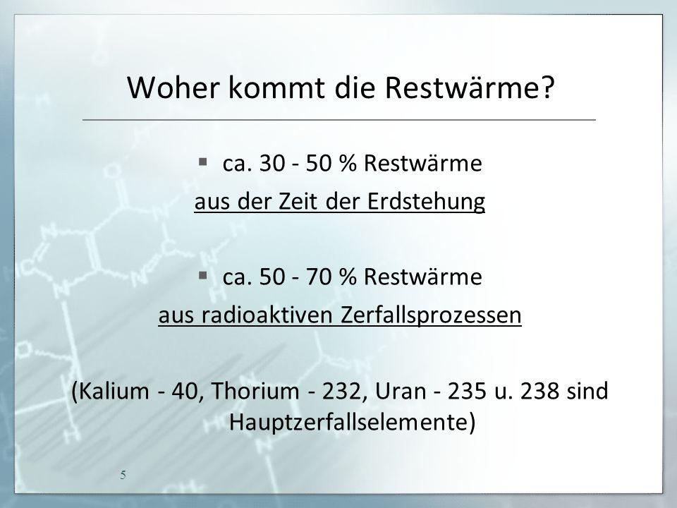 Radioaktive Zerfallsprozesse Zerfallsreihe für: Thorium - 232 & Uran - 235 & Uran - 238 6