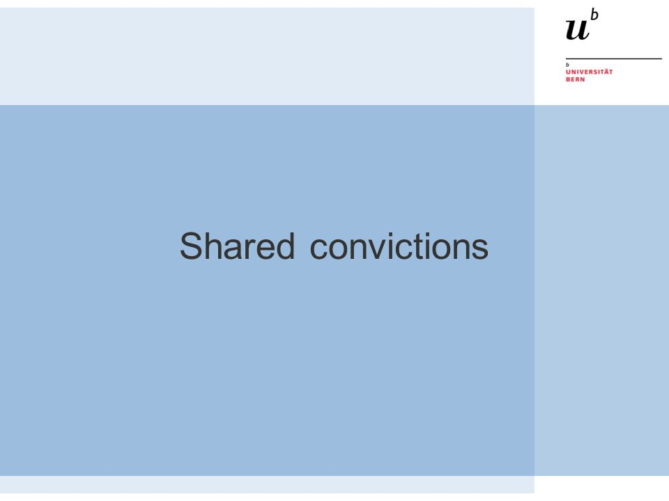 Shared convictions