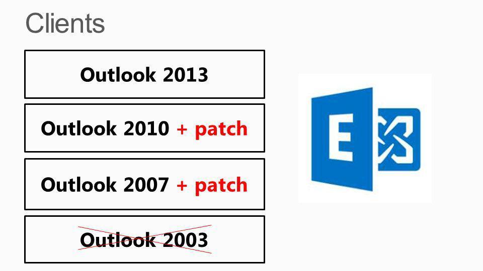 Outlook 2010 + patch Outlook 2007 + patch Outlook 2003 Outlook 2013