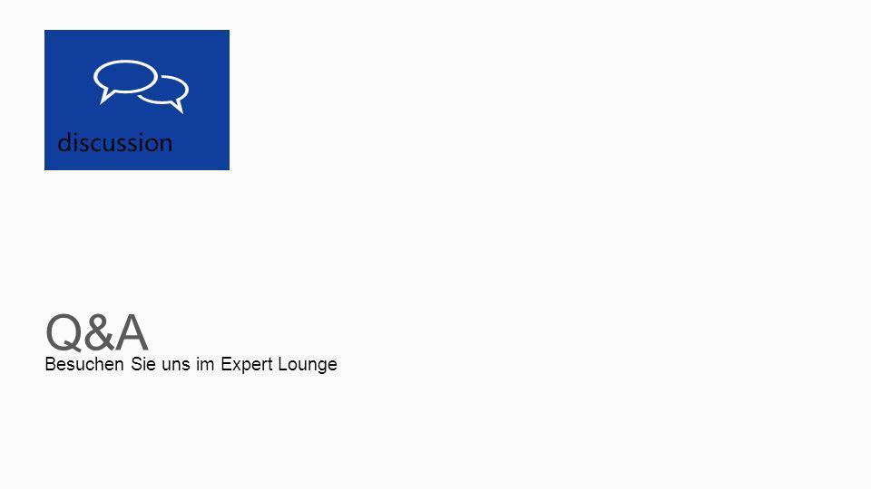 discussion Besuchen Sie uns im Expert Lounge