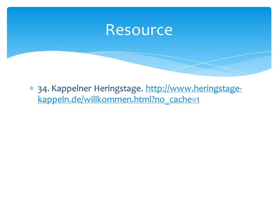 34. Kappelner Heringstage.